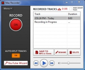 Enlarge Max Recorder Screenshot