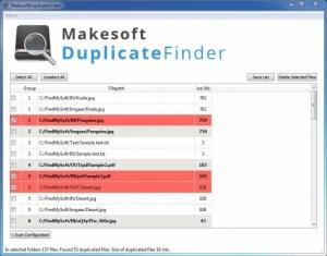 Enlarge Makesoft DuplicateFinder Screenshot