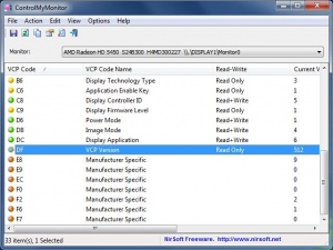 Enlarge ControlMyMonitor Screenshot