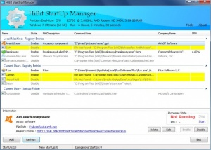 Enlarge HiBite Startup Manager Screenshot