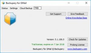 Enlarge Backupery for GMail Screenshot