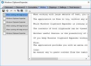 Enlarge Windows Clipboard Expander Screenshot