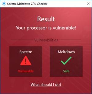 Enlarge Ashampoo Spectre Meltdown CPU Checker Screenshot