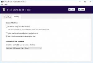 Enlarge File Shredder Tool Screenshot