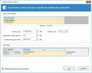 Enlarge NIUBI Partition Editor Screenshot
