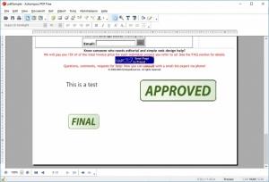 Enlarge Ashampoo PDF Free Screenshot