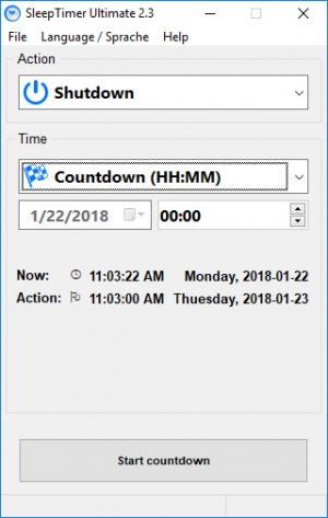 Enlarge SleepTimer Screenshot