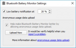 Enlarge Bluetooth Battery Monitor Screenshot