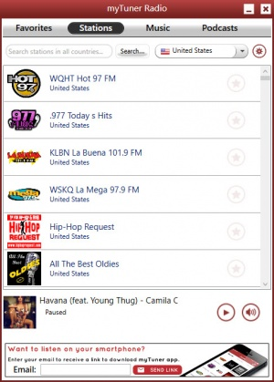 Enlarge myTuner Radio Screenshot
