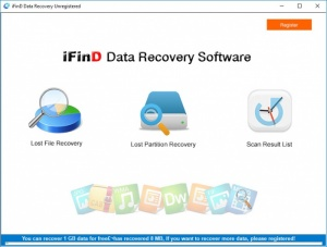 Enlarge iFind Data Recovery Screenshot