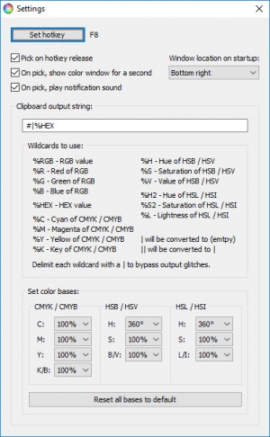 Enlarge Screen Color Picker Screenshot