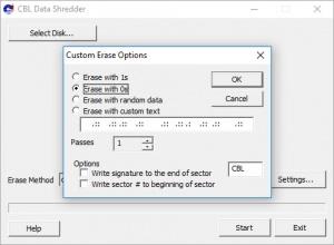 Enlarge CBL Data Shredder Screenshot