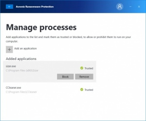 Enlarge Acronis Ransomware Protection Screenshot