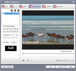 Enlarge GiliSoft Free Video Converter Screenshot