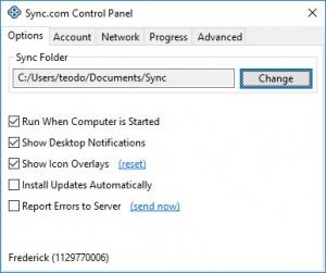 Enlarge Sync Screenshot