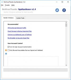 Enlarge SysHardener Screenshot