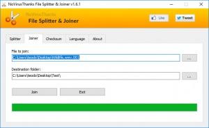 Enlarge File Splitter & Joiner Screenshot