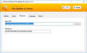 Enlarge File Splitter & Joiner Screenshot