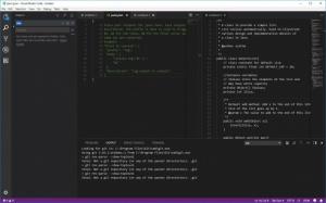 Enlarge Visual Studio Code Screenshot