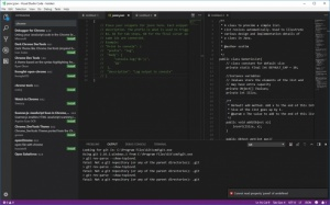 Enlarge Visual Studio Code Screenshot
