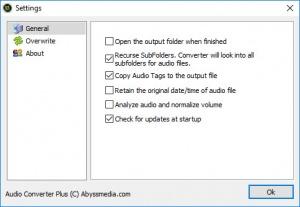 Enlarge Audio Converter Plus Screenshot