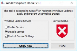 Enlarge Windows Update Blocker Screenshot