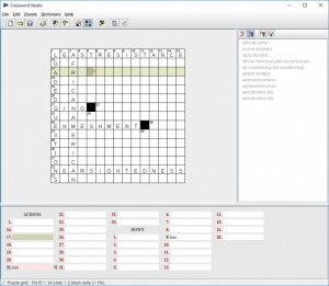 Enlarge Crossword Studio Screenshot