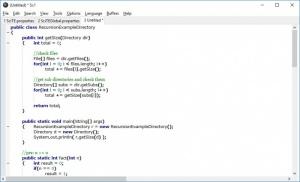 Enlarge SciTE Screenshot