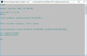 Enlarge Advanced Trigonometry Calculator Screenshot