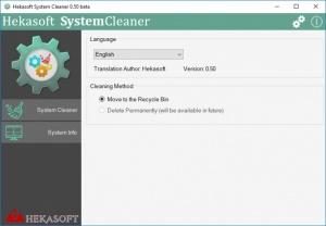 Enlarge Hekasoft System Cleaner Screenshot