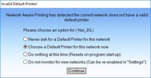 Enlarge Network Aware Printing Screenshot