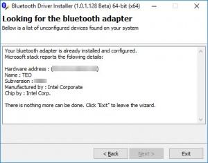 Enlarge Bluetooth Driver Installer Screenshot