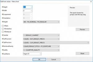 Enlarge Alternate Font Sizer Screenshot