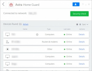 Enlarge Avira Home Guard Screenshot