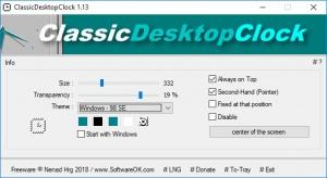 Enlarge ClassicDesktopClock Screenshot