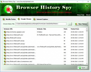 Enlarge Browser History Spy Screenshot
