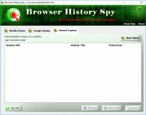 Enlarge Browser History Spy Screenshot