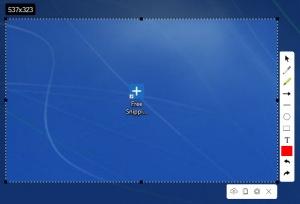 Enlarge Free Snipping Tool Screenshot