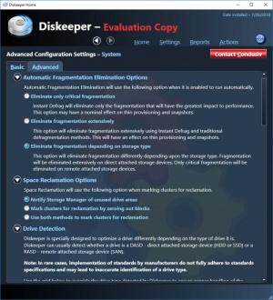 Enlarge Diskeeper Screenshot