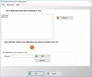 Enlarge Minimize to Tray Tool Screenshot
