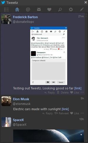Enlarge Tweetz Desktop Screenshot