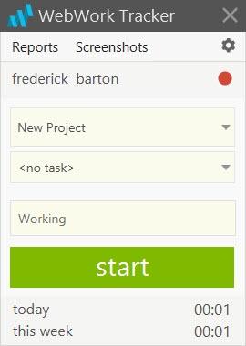 Enlarge WebWork Tracker Screenshot