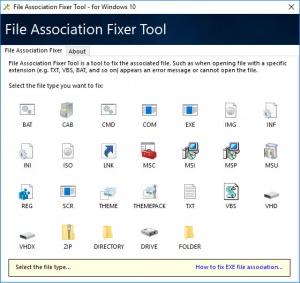 Enlarge File Association Fixer Tool Screenshot