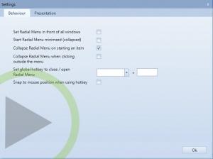 Enlarge Radial Menu Screenshot