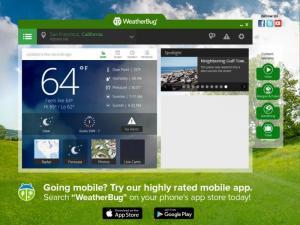 Enlarge WeatherBug Screenshot