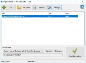 Enlarge PCL To PDF Converter Screenshot