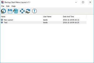 Enlarge Backup Start Menu Layout Screenshot