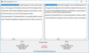 Enlarge Text Comparator Screenshot