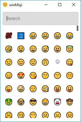 Enlarge winMoji Screenshot