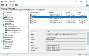 Enlarge Firefox CookieMan Screenshot
